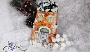 Decoupage Tutorial - Christmas Roof Tile - DIY Tutoarial