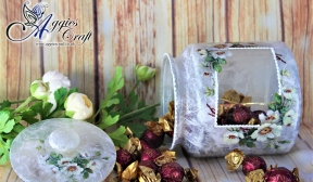 Cookie Jar with Rice Paper